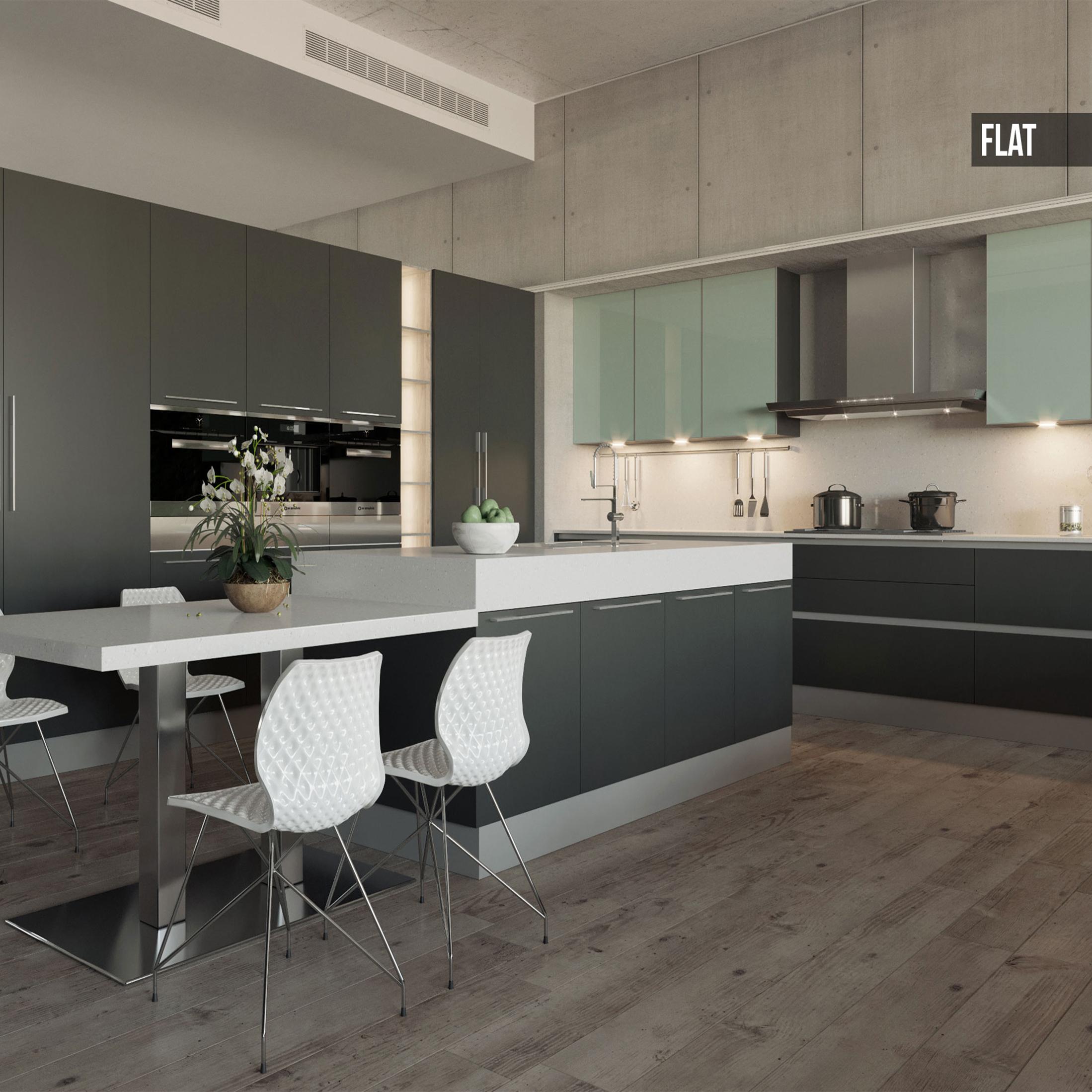Kafco Aluminum Kitchen -   FLat